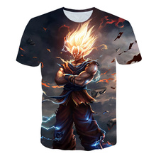 2019 New Arrival Cool Goku Dragon Ball Z 3d T Shirt Summer Fashionable Short Sle