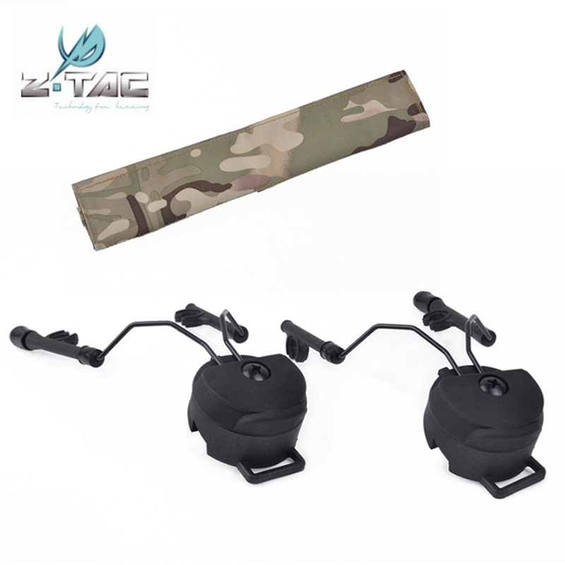 Z Tactical Softair Fast Helmet Rail Adapter Set Comtac I II Headset Holder Ztac Airsoft Military Headphone Accessories Z147|Tactical Headsets & Accessories| |  - title=