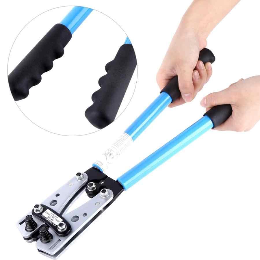 Professionele 6-50Mm2 Plug Crimp Tang Hex Crimper Krimptang Batterij Kabel Lug Handgereedschap