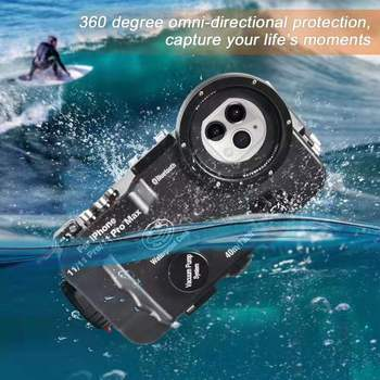 Seafrogs 40m/130ft Bluetooth Waterproof Housing Diving Phone Case Cover Bag For iPhone 11/11 Pro/11 Pro Max