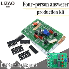 Four Person Responder Diy Kit 4 Channel Answering Teaching Practice Welding PCB Board Fun E