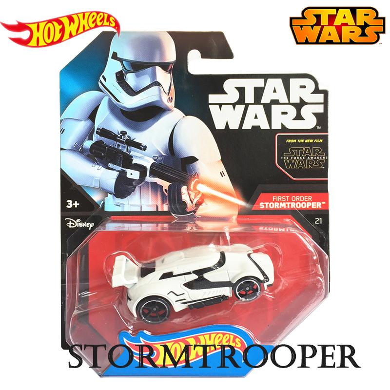 Genuine Hot Wheels Star Wars Series Role Imperial Stormtrooper Model Car Boys Toys 4 Year CGW35
