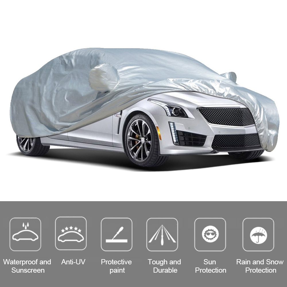 Full Car Cover Indoor Outdoor Zonnebrandcrème Warmte Bescherming Stofdicht Anti-Uv Krasbestendig Sedan Universele Pak