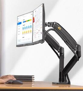 Image 1 - NB F195A In Lega di Alluminio 22 32 pollici Dual LCD LED Monitor di Montaggio Molla A Gas Braccio Pieno di Movimento del Supporto Del Monitor supporto con 2 Porte USB