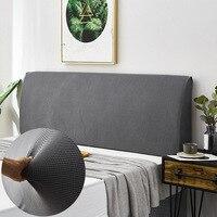 Capa de cabeça de cama moderna alta elástica capa de cabeceira universal all inclusive encosto de cama à prova de poeira capa de elastano|Colcha|   -