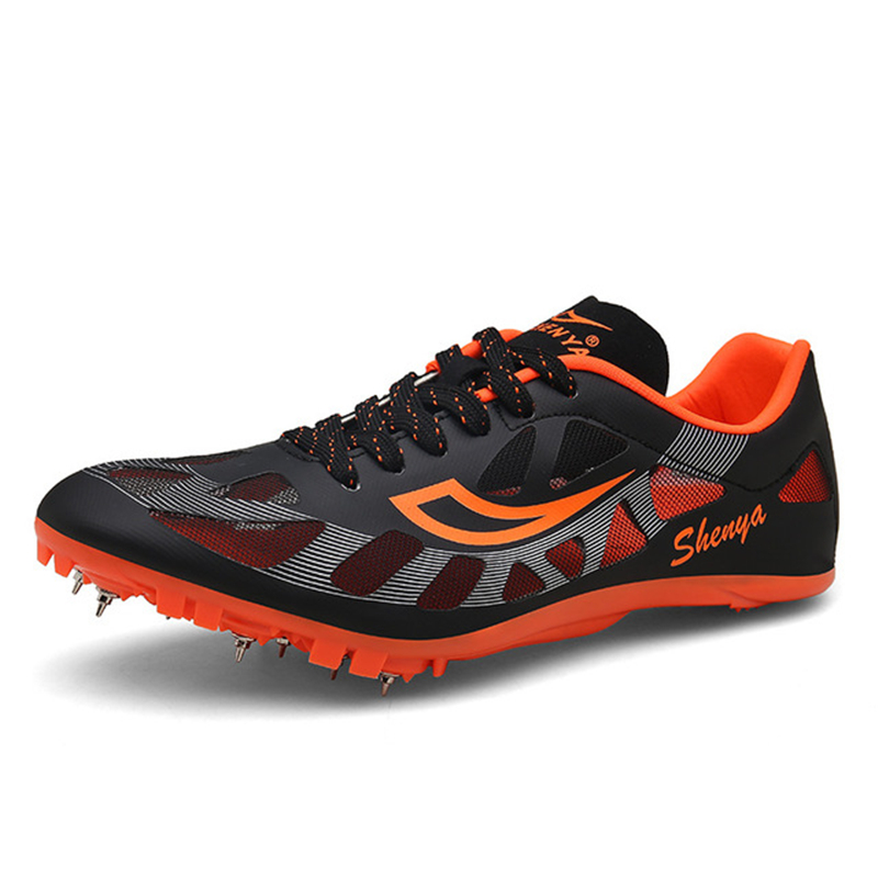 Men Track and Field Shoes Spikes Tracking Shoes Women Breathable Soft Running Nails Sneaker Training Trainers D0874