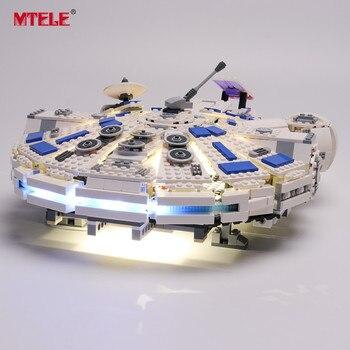MTELE Brand LED Light Up Kit For Star war Story Kessel Run Millennium Model Falcon Lighting Set Compatile With 75212