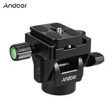 Andoer M-12 monopod cabeça de inclinação panorâmica telefoto pássaro assistindo com placa liberação rápida