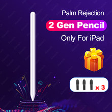 Para Apple lápiz 2 Touch Pen Stylus para iPad Pro 11 12,9 9,7, 2018 3 10,2 2019 Mini 5 para iPad lápiz sin demora pluma de dibujo(China)
