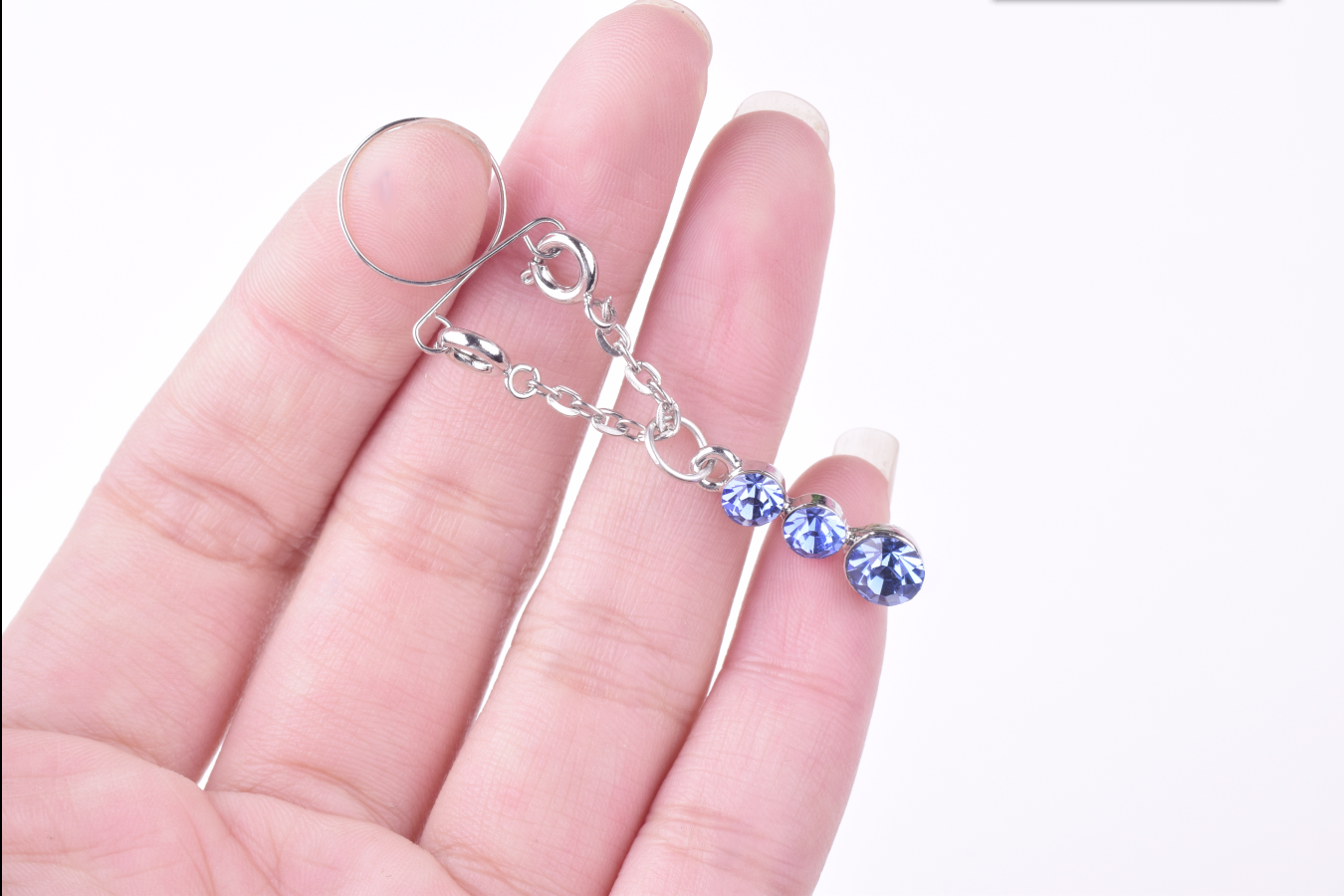 1 Pair Sexy Non Tindik Klip Palsu Puting Cincin Tubuh Perhiasan Berlian Imitasi Penutup Klem Mainan Seks Dewasa Tindik Dapat Disesuaikan ukuran