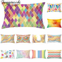 Fuwatacchi Colorful Geometric Cushion Cover Rectangle Throw Pillow Covers Decorative for Home Decoration Pillowcases New 30*50cm