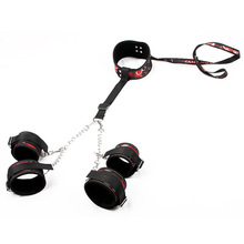 Adult Games Bdsm Bondage Fetish Collar With Sex Handcuffs Leather Slave Sex Toys For Couples Sexuales Erotic Product erotic games bdsm fetish exquisite beauty of stainless steel neck jacket slave collar bdsm bondage sex toys for couples