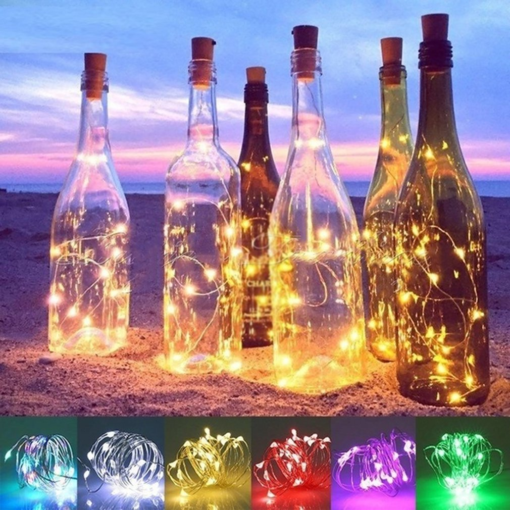 Red Wine Bottle Atmosphere Led Light String Cork Crafts Decorative Lights Copper Wire String Bar Light String