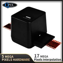 Przenośny skaner negatywów 35mm 135 konwerter slajdów zdjęcie cyfrowy obraz 17 9 megapikseli monochromatyczny skaner slajdów tanie tanio QPIX DIGITAL SKANER FOLII 5 Mega Pixels(2592x1728) CMOS Rohs 36mm 0 5 second CN (pochodzenie) Positive Slide Negative Film Scanner