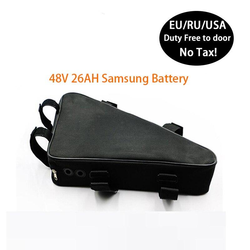 Batterie de Triangle de batterie au Lithium de bicyclette électrique de capacité élevée 18650 cellules pour la batterie de 48V 500W 1000W haute puissance E Bke Ebike