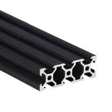 Rail linéaire en aluminium anodisé noir 2060 V, profilé Extrusion, longueur 100-800mm, pour imprimante 3D, 1 pièce