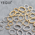 YEGUI M603, ювелирные изделия, аксессуары, 18k с позолотой, 0,3 мкм, родиевое покрытие, соединительное кольцо, ювелирные изделия делая, сделай сам, се...