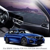Car Styling Dashboard Avoid Light Pad Instrument Platform Cover Flannel Mat For BMW 3Series F30 F31 F34 G20 2011 Present LHD&RHD