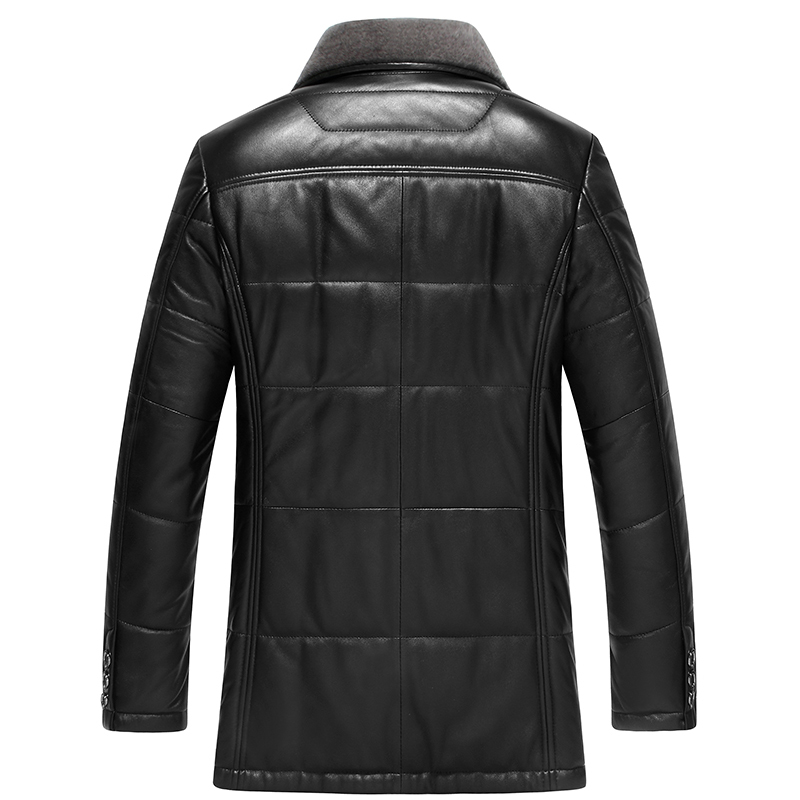 Genuine Leather Jacket Winter Down Jacket Men Sheepskin Coat Men Leather Jacket Chaqueta Cuero Hombre C567A10361 KJ1115