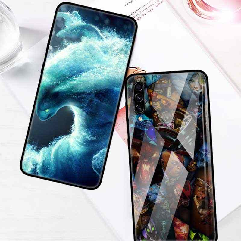 Game Dota 2 Miếng Kính Cường Lực Cho Samsung Galaxy A70 A50 A40 A30 A20 S A10 A91 J4 J6 Plus A51 a71 Cường Lực Điện Thoại Coque CAS
