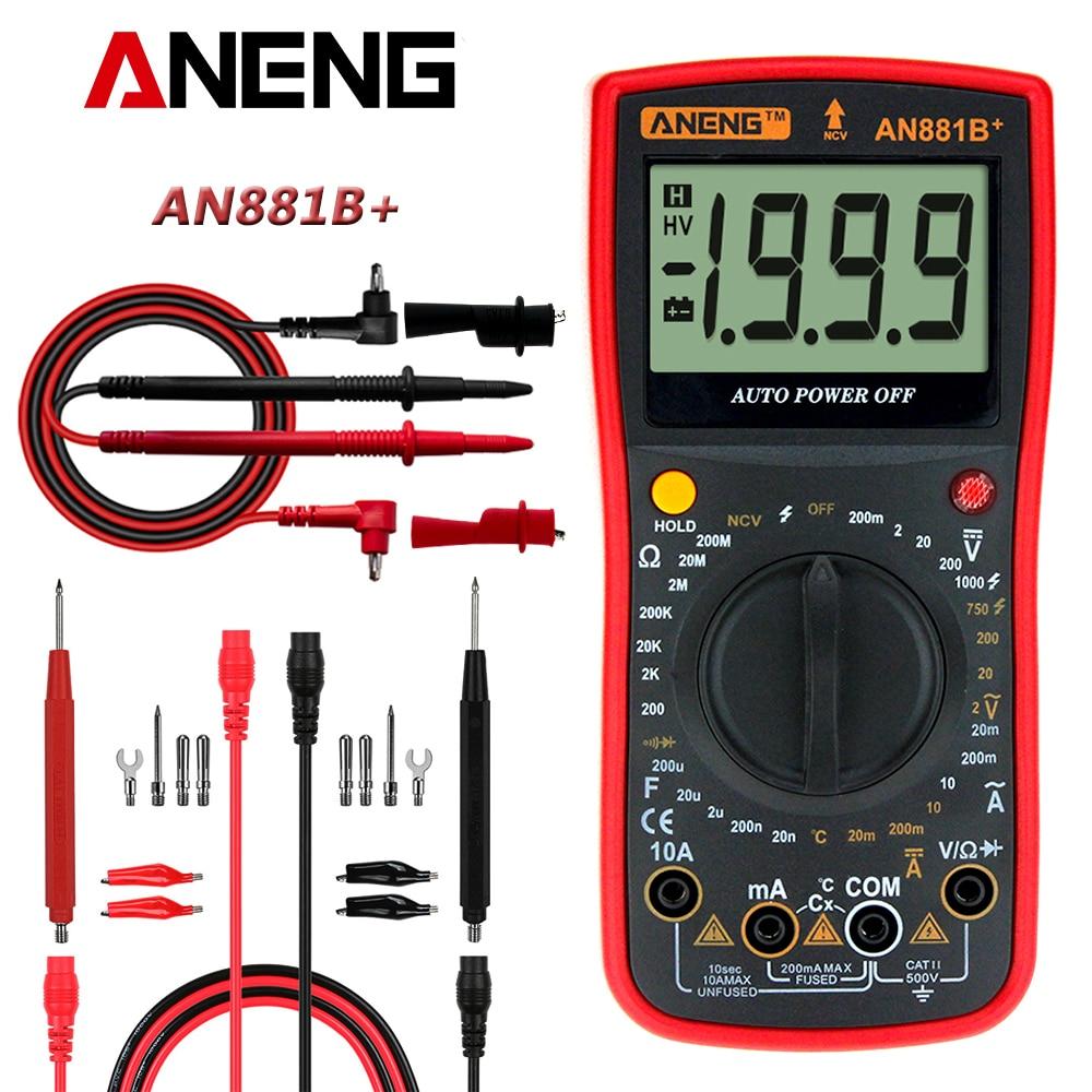 AN881B + true rms Цифровой мультиметр тестер транзистор тестеры ручной Высокоточный цифровой мультиметр тестер ac dc мультиметр|Мультиметры|   | АлиЭкспресс