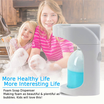 500ML Wall Mounted/On Countertop Hands free Automatic Foam Soap Dispenser for Bathroom Kitchen  Foaming