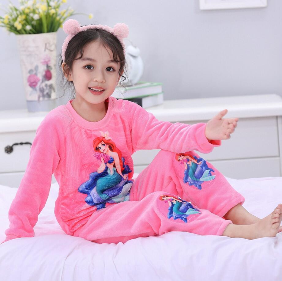 Новинка года; зимняя детская флисовая Пижама; теплая фланелевая одежда для сна; домашняя одежда для девочек из кораллового флиса; детская пижама; домашняя одежда; Пижама для мальчиков - Цвет: model 18