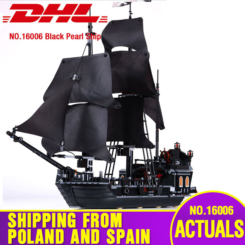 16006 16009 Pirates Of Caribbean Compatible With Lepining 4184 Black Pearl 4195 Building Blocks Bricks Kids Christmas Toys Gift
