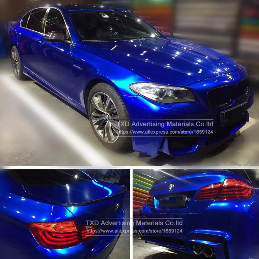 Премиум темно-синяя Глянцевая перламутровая хромированная металлическая виниловая пленка глянцевые конфеты темно-синяя металлическая перламутровая Хромированная пленка для автомобиля