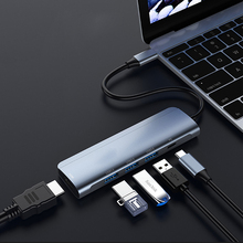 USB C HDMI Cable Type C to HDMI HUB Adapter USB-C Converter Type-C HUB USB3.0 PD 87W Charge for MacBook Huawei Mate 30 Pro orico aluminum hub type c to type a type c hdmi converter support pd multi function laptop station for macbook pc
