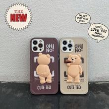 Cute Cartoon Ted Bear for Huawei P30 Pro P40 Pro Mate 30 Nova 5 6 Phone Cover