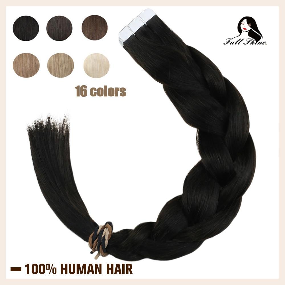 Волосы для наращивания Remy, полностью блестящие, цветные, блонд, 20 шт.