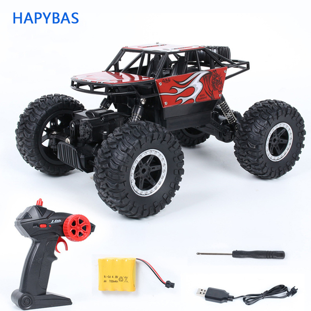 2.4Ghz Four-wheel drive rc car toy off-road vehicle mountain big foot remote control car  Alloy climbing car children's toy