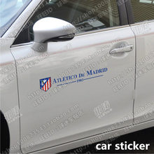 купить Atletico Madrid football team car sticker door windshield rearview mirror door handle sticker Atletico Madrid fans supplies по цене 840.19 рублей