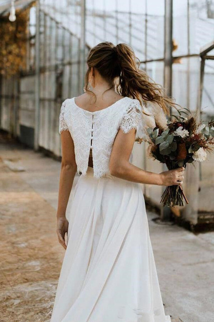 Robe de Mariage Bohème Ancien Gabrielle