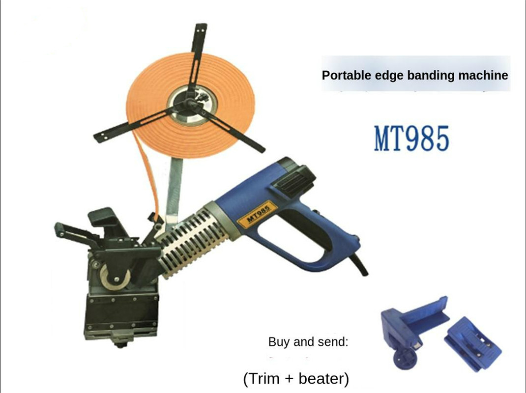 MT985 Small Woodworking Portable Curved Line Manual Edge Banding Machine Home Improvement Decoration Tool