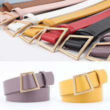 HOT Buckles Belt Female Deduction Side Buckle Jeans Wild Belts For Women Fashion Students Simple Casual Trousers 103*3.5CM(China)