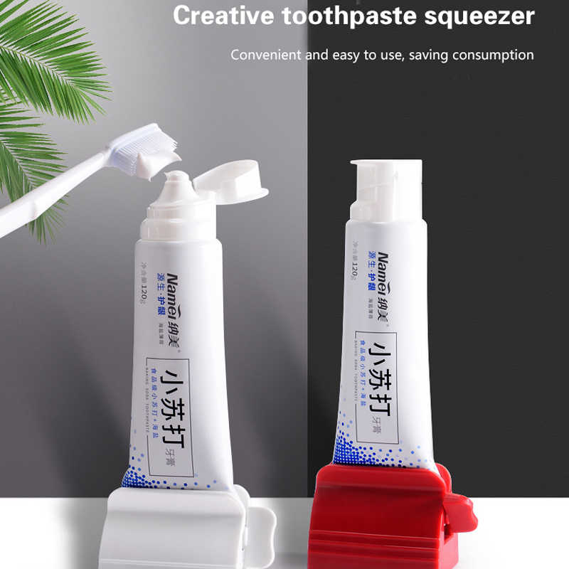 2pcs Dispenser Squeeze Tube Squeezer Easy Toothpaste Facial Cleanser Sale xian