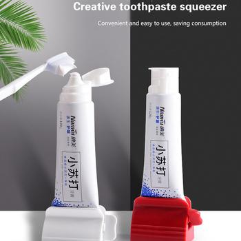 Rolling pasta do zębów urządzenie dozownik rur wielofunkcyjny plastikowy płyn do demakijażu wyciskacz do akcesoriów łazienkowych tanie i dobre opinie CN (pochodzenie) Z tworzywa sztucznego Bathroom Accessories Easy to Using Kids Toothpaster Dispenser Toothpaste Tube Squeezer