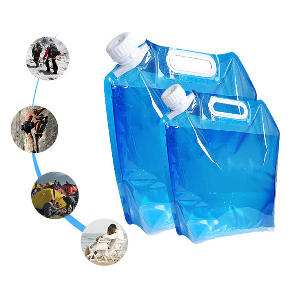 5L/10L Outdoor Camping Wandelen Opvouwbare Waterzak Hydration Pack Opslag Container Opvouwbare Draagbare Picknick Drinken Container Bag