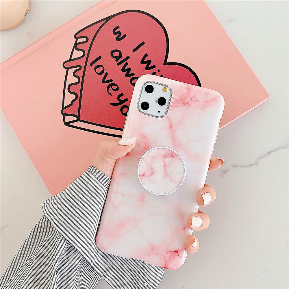 Luxury Marble Stand Phone Back Cover Shell For iPhone 11 Pro X XR XS Max 7 8 6 6S 15