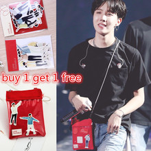Latest in 2019 Korean group KPOP Bangtan Boys Red Shoulder Same Bag Mini-bag Peripheral and Life Wall Stickers