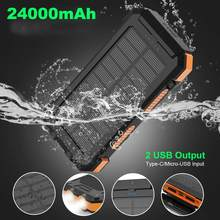 Batterie externe Portable étanche 24000mAh 24000mAh avec boussole pour téléphones portables