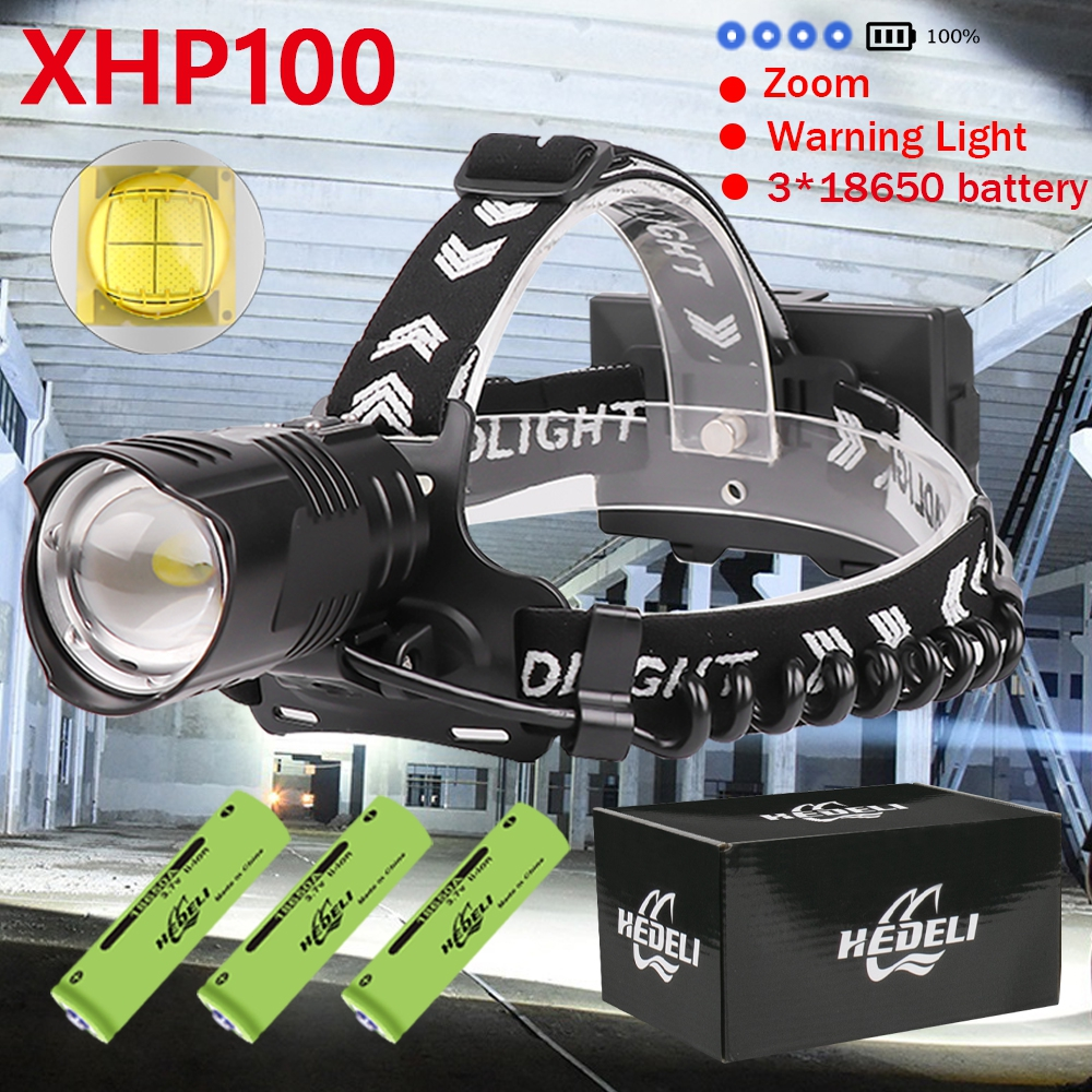 Headlamp XHP90 2 XHP100 Rechargeable LED Headlight USB Head Flashlight XHP90 Fishing Hunting Camping Zoom 18650 Head Torch