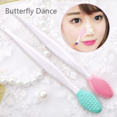 Escova esfoliante de silicone para rosto, removedor de cravos e esfoliante para beleza, limpeza facial, 1 peça