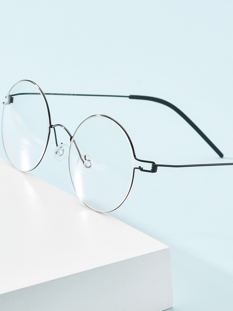 Prescription Eyeglasses Frame Screwless Eyewear Myopia Optical-Denmark Round Korean FONEX