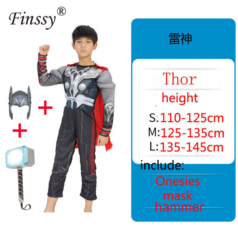 Children's Cosplay Costume Avengers Raytheon Thor Stage Performance Clothing Children's Gift Boys Costumes     - title=