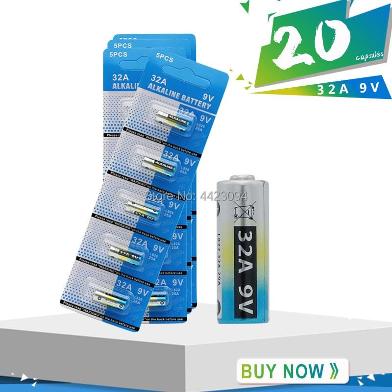 20 pièces/lot haute qualité 29A 32A 9V L822 pile alcaline sonnette alarme batterie télécommande piles