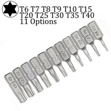 10pcs Torx Screwdriver Bit Set 1/4 Hex Shank Star T6 T7 T8 T10 T15 T20 T25 T30 T35 T40 Screw Driver Bits Home Hand Tools