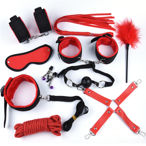Image 5 - 25Pcs With Vibrator BDSM Sex Toys For Woman Adult Slave Games Handcuffs For Sex Nipple Clamps Bondage Collar Anal Butt Plug